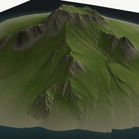 3D landscape height