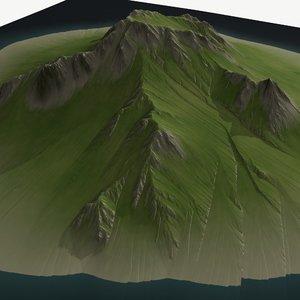 3D landscape height