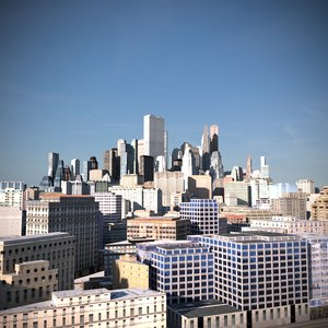 city 3D model