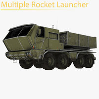 3D multiple rocket launcher