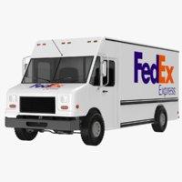 3D fedex truck model