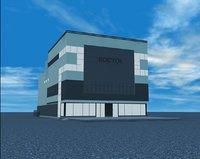 3D model shopping center east