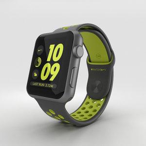 apple watch aluminum 3D model