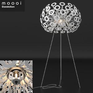 3D moooi dandelion floor lamp materials