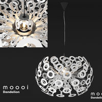 Detailed High Poly 3d model of Moooi Dandelion modern ceiling interior lamp