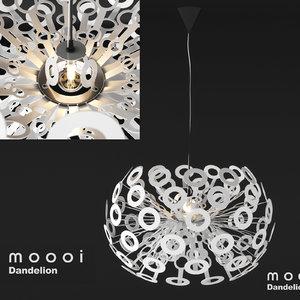 3D lamp moooi modern model