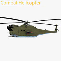 combat helicopter model