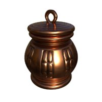 copper inkwell 3D model