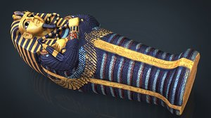 egyptian sarcophagus 3D model