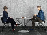 talking couple 3D model