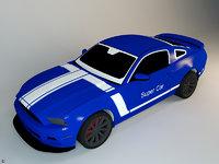 toy racecar 3D model
