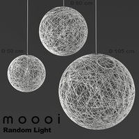 Detailed High Poly 3d model of Moooi Random modern ceiling interior lamps