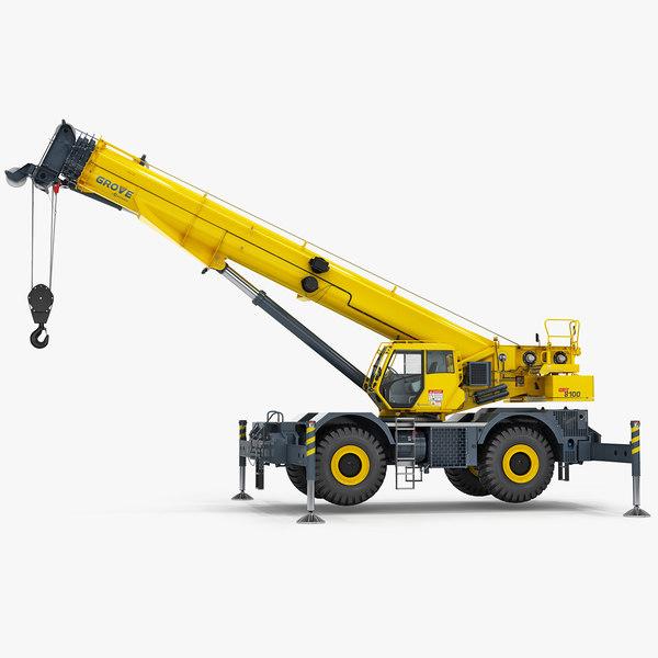 manitowoc grt8100 rough terrain model