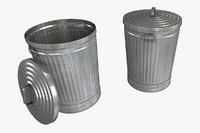 metal trash 3D model