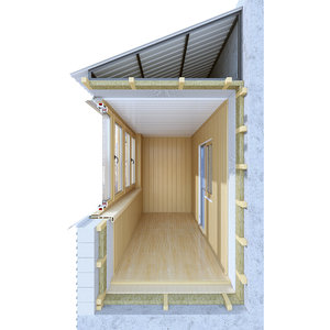 balcony section 3D model