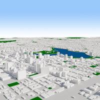 3D oakland cityscape build