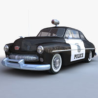 generic retro police car model