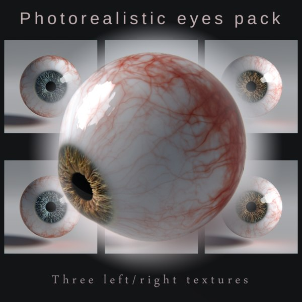 3D photorealistic human eyes model