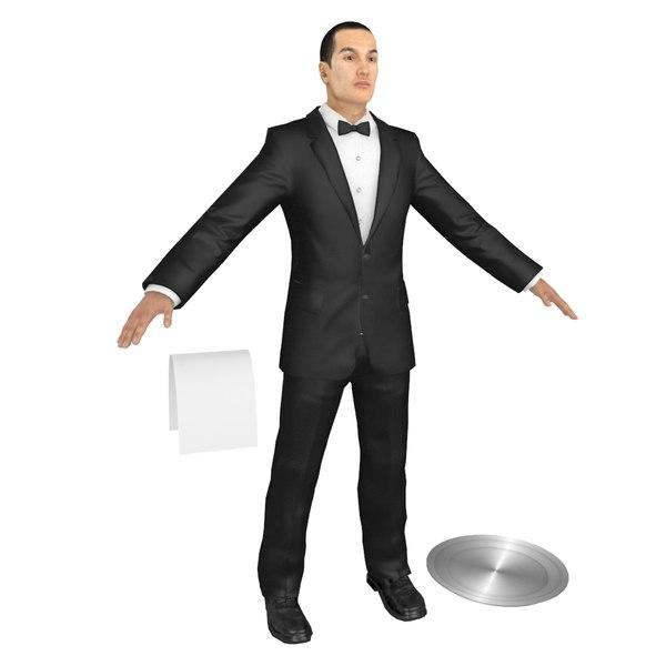 3D waiter tray