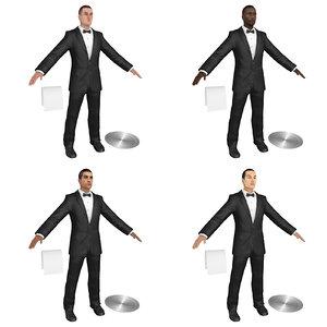 pack waiter s 3D model