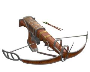fantasy crossbow 3D model