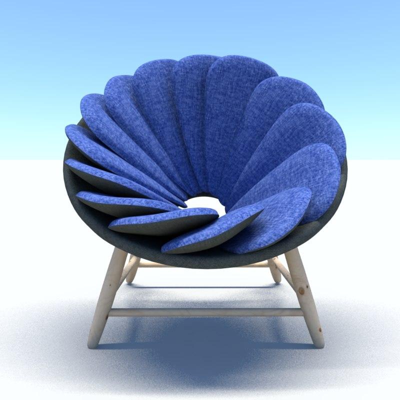 3D model pillowchair chair