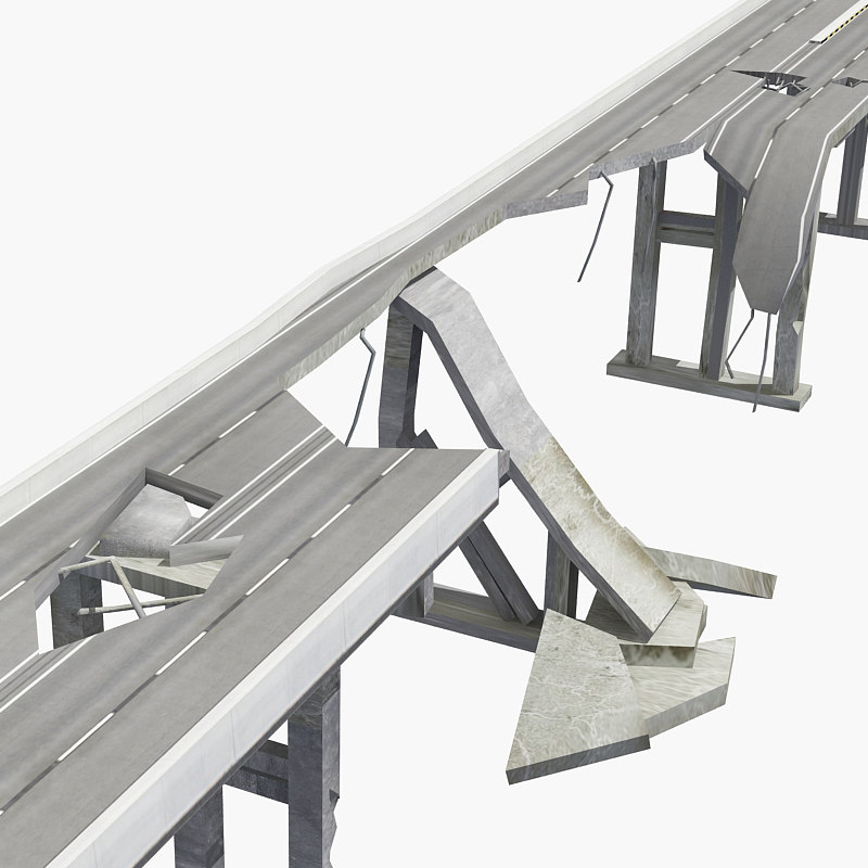 ruin bridge 3D model