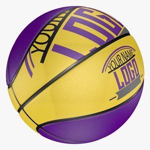 editable basketball modeled 3D