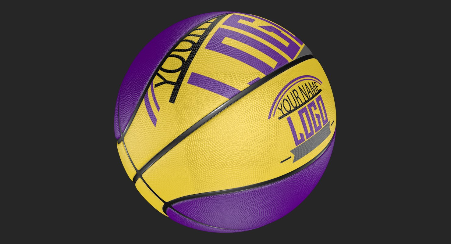 editable basketball modeled 3D