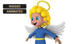 3D cartoon angel model