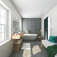 bath bathroom 3D model