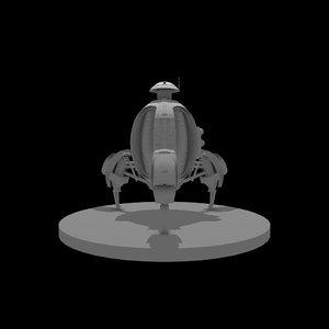 3D space probe model