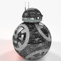 bb-8 star wars dark 3D