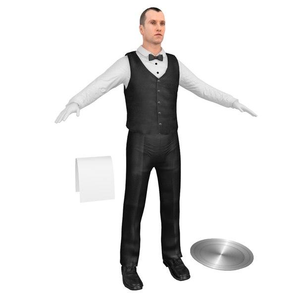 3D waiter tray model