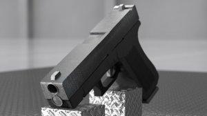 3D glock 18 pistol