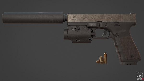 3D glock-17 model