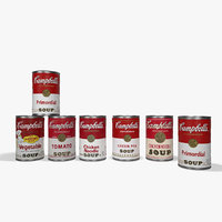 3D model campbells canned
