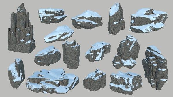 3D rock snow model