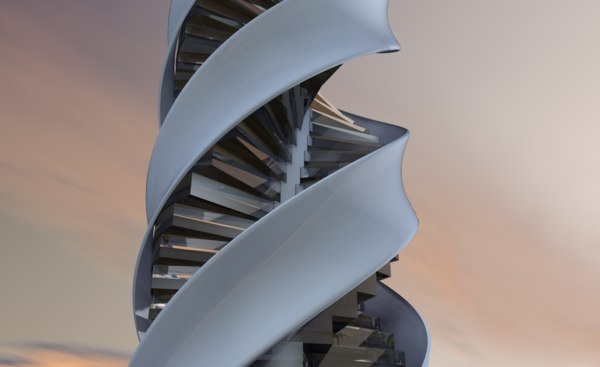 twisted tower 3D model