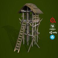 3D ue4 unity metallic model