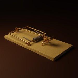 spring mouse trap 3D model