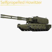 3D selfpropelled howitzer model