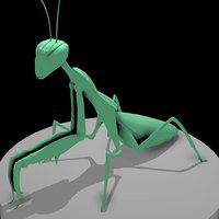 insect mantis bugs 3D