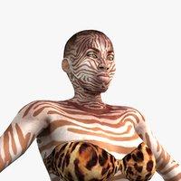 3D hunter animal rigging model