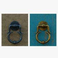 door handle 6 brass 3D model