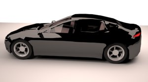 black sedan car 3D model