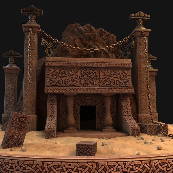 3D cave entrance