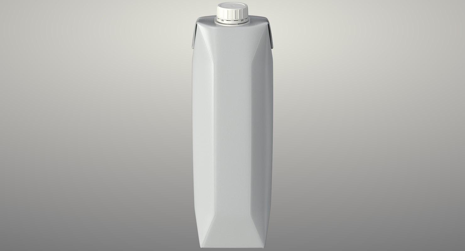 realistic food packaging juice 3D model