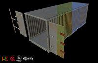 3D model ue4 unity metallic