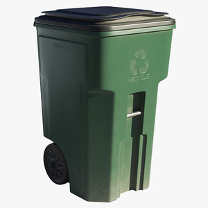 plastic trash bin model